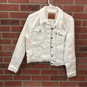 Levi's White Denim Jacket XL